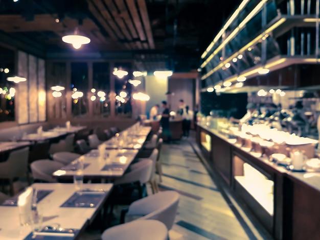 Blured of defocused-afbeelding van vacant restaurant