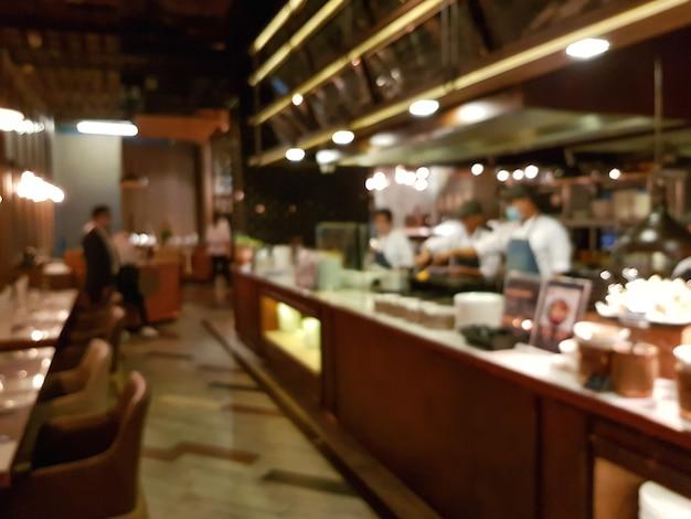 Blured retaurant chef