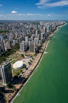 Boa viagem beach recife pernambuco brazilië luchtfoto
