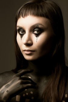 Body-art verf, jonge vrouw