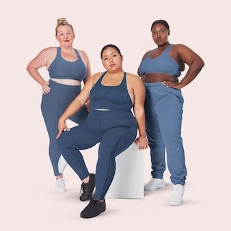 Body positivity diverse curvy dames sportkleding