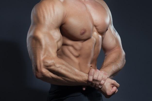 Bodybuilder man sterk lichaam