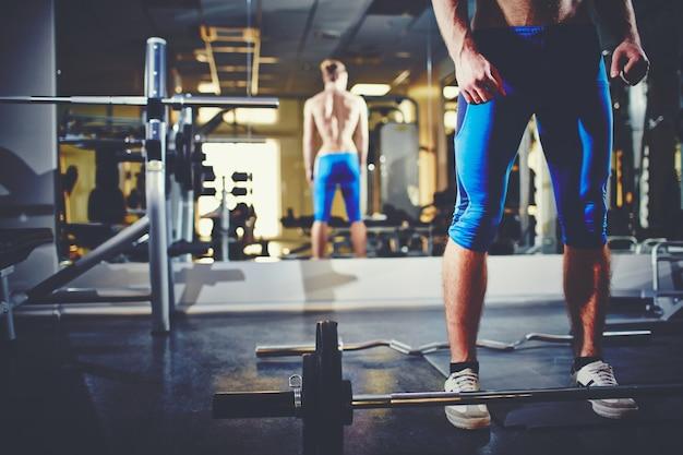Bodybuilder reflectie