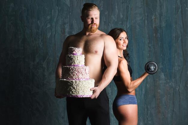 Bodybuilders. concept sport, motivatie.