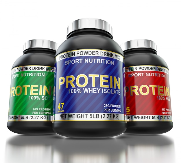 Bodybuilding eiwitsupplementen geïsoleerd