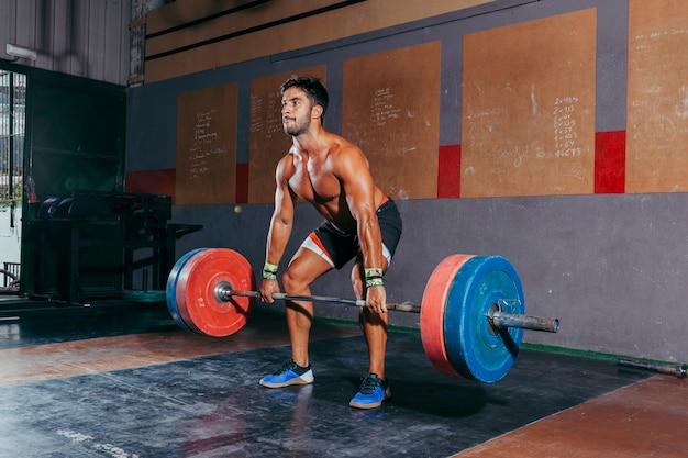 Bodybuilding training concept