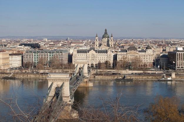 Boedapest hongarije in het stadscentrum