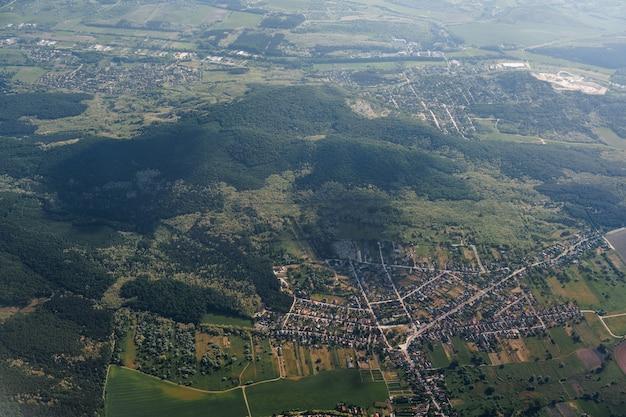 Boedapest hongarije luchtfoto groene velden en gebouwen