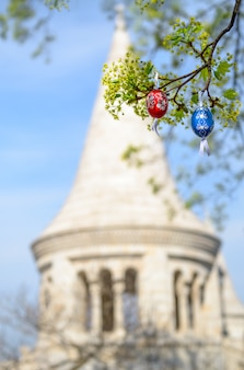 Boedapest, pasen met eieren in openlucht