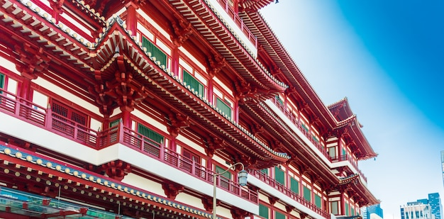 Boeddha's overblijfselen tand tempel in singapore chinatown