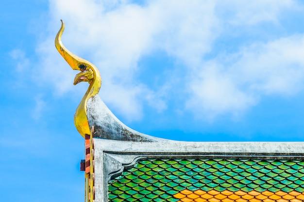 Boeddhisme top blauw decor architectuur