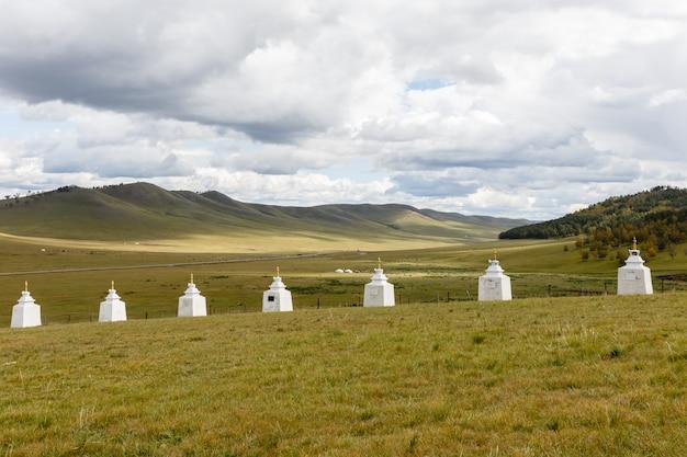 Boeddhistisch klooster in de steppen