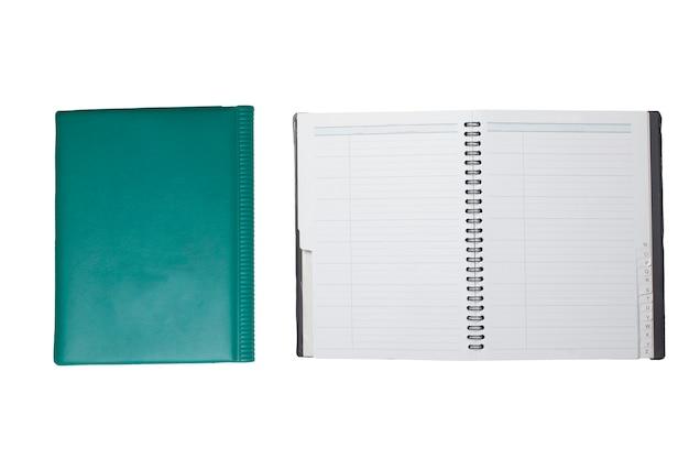 Boek geïsoleerd op witte achtergrond