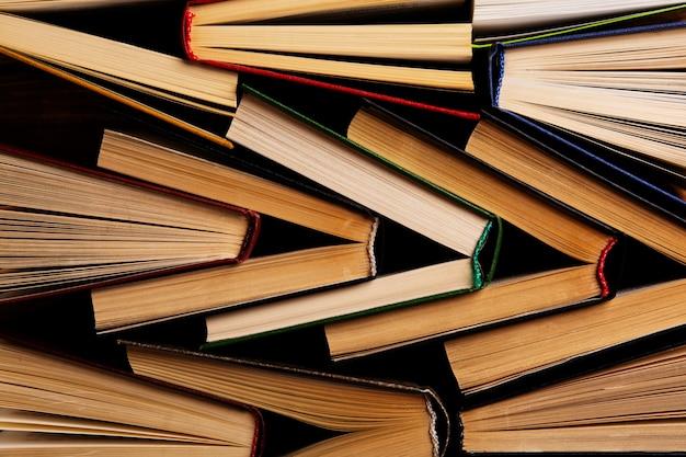 Boeken bovenaanzicht