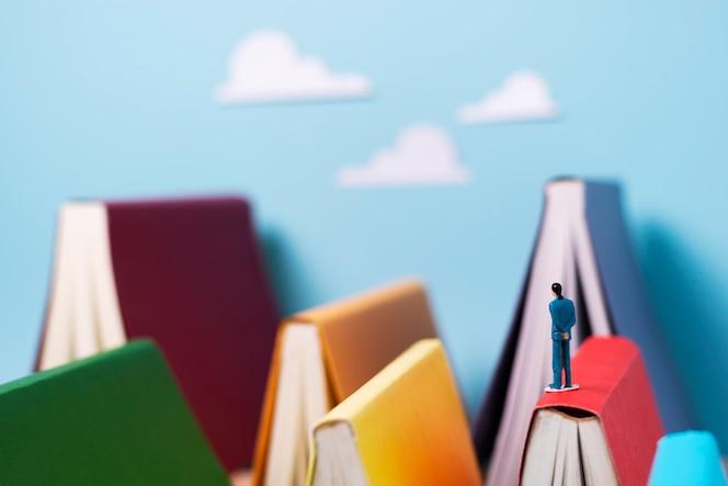 Boeken en fantasie stilleven