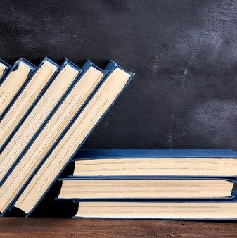Boeken in de blauwe omslag