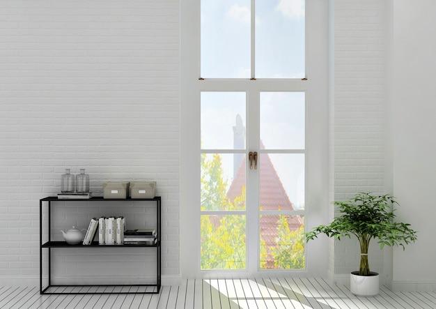 Boekenzel met venster
