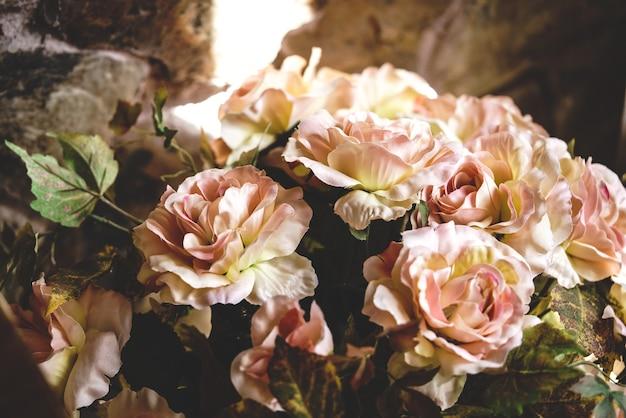 Boeket bloemen gemaakt van stof