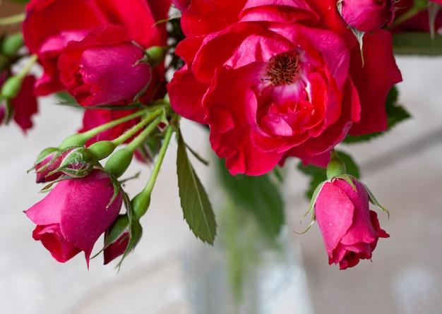 Boeket delicate roze rozen