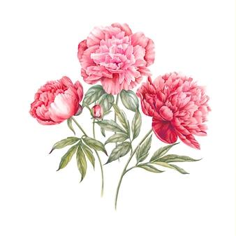 Boeket roze bloemen.