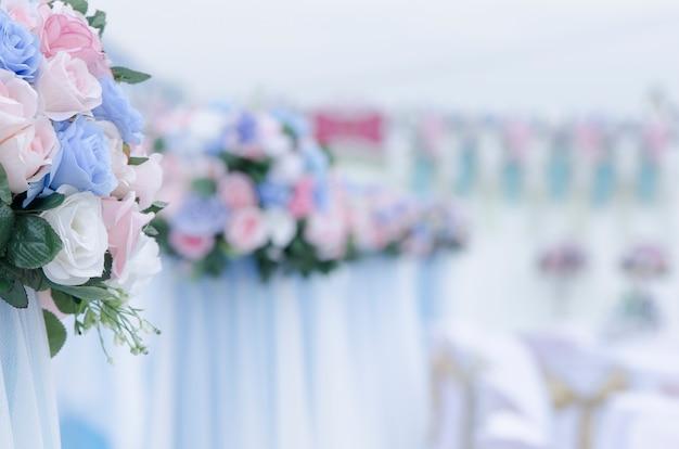 Boeket rozen in de bruiloft