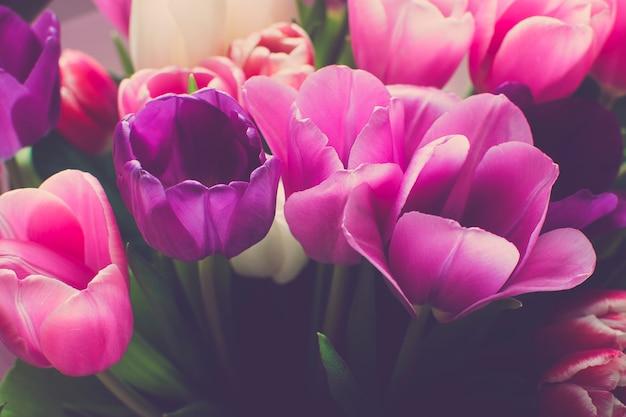 Boeket tulpen close-up