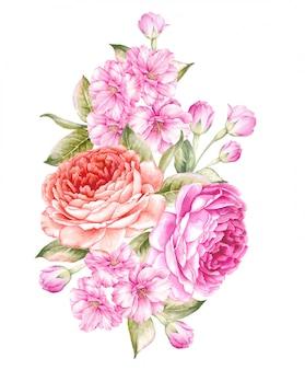 Boeket van lentebloemen.