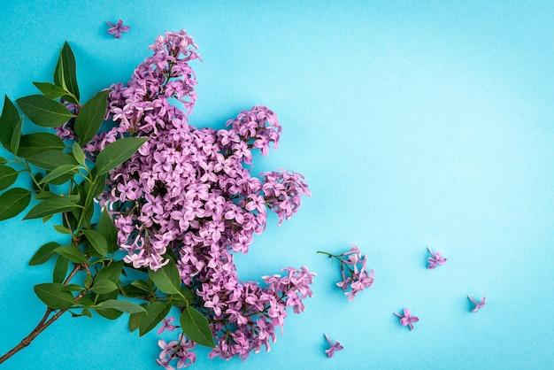 Boeket van lila lentebloemen