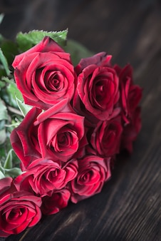 Boeket van rode rozen