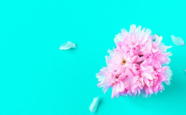 Boeket van roze sakura bloemen