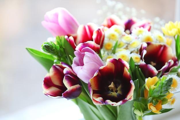 Boeket verse bloemen, close-up