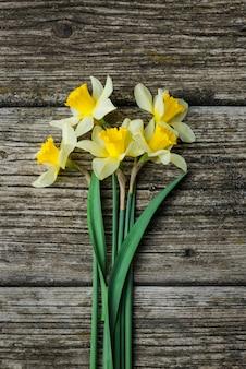 Boeket verse lente bloemen narcissen