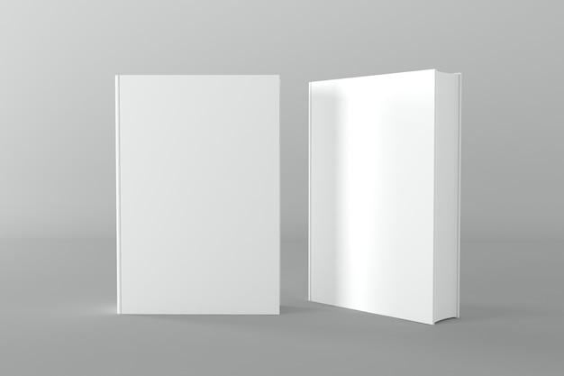 Boekomslag mockup 3d-rendering illustratie
