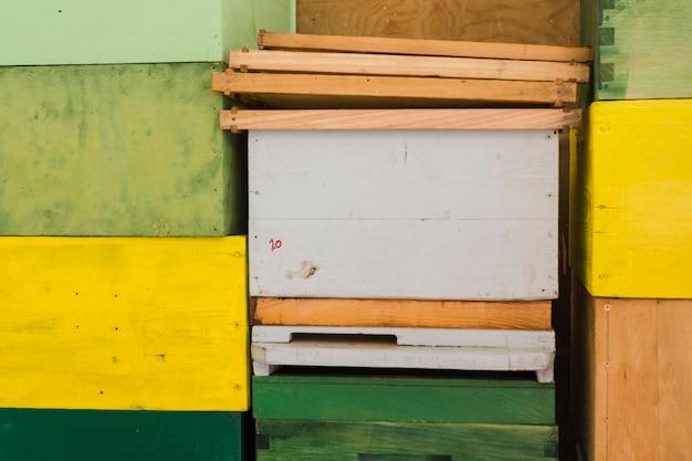 Boerderij honingraat stapel