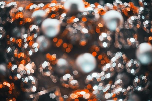 Bokeh. kerstmis abstracte achtergrond met kleurrijke bokeh
