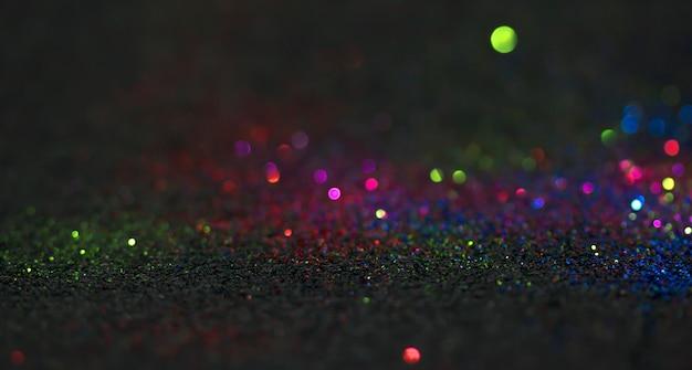 Bokeh schittert vlieg en lichten