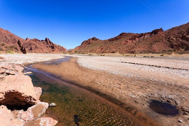 Boliviaanse canyon in de buurt van tupiza, bolivia. quebrada seca, duende canyon. boliviaans landschap