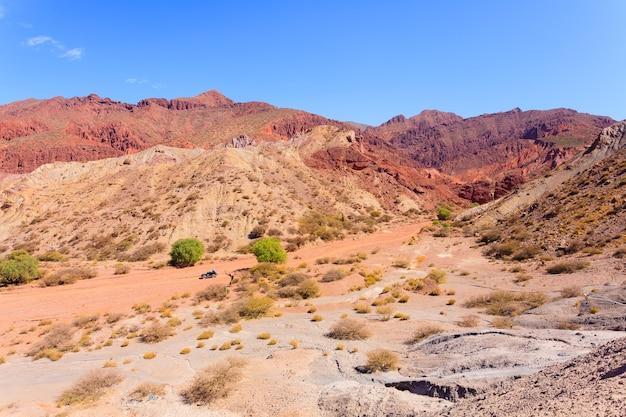 Boliviaanse kloof in de buurt van tupiza, bolivia. quebrada de palmira, duende-canyon
