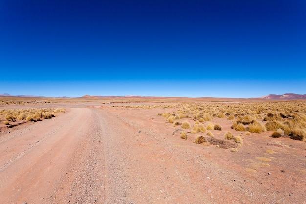 Boliviaanse onverharde weg perspectiefweergave
