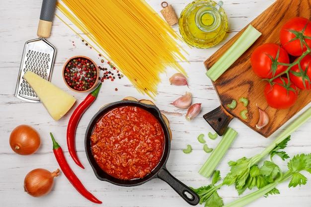 Bolognesesaus voor spaghetti