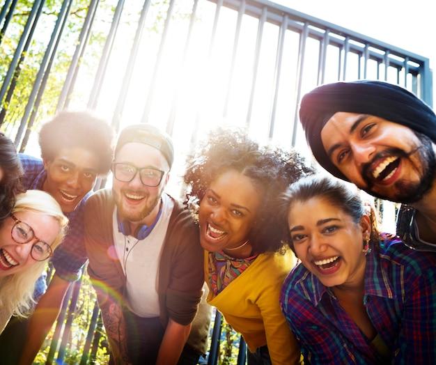 Bonding community friends team samenhorigheid eenheid concept
