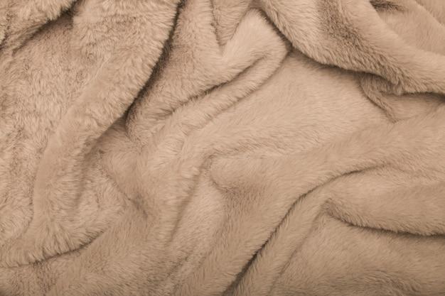 Bont stof fabriek pluizige zachte delicate grijze oppervlak nepbontjas