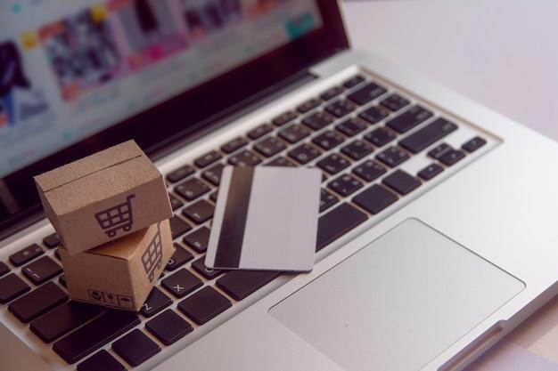 Boodschappenservice op het online web.