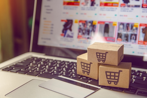 Boodschappenservice op internet met betaling per creditcard en levering aan huis