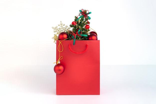 Boodschappentas met kerstboom