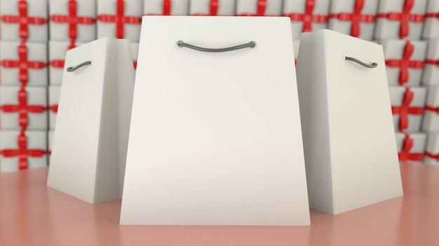 Boodschappentassen op vage geschenken