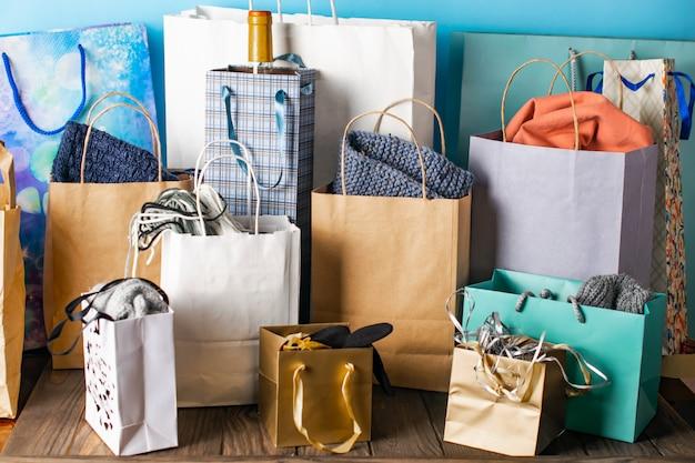 Boodschappentassen, verkoop, cadeaus