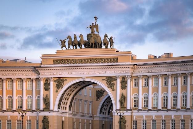 Boog van de generale staf sint-petersburg rusland