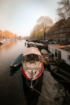 Boot in amsterdam