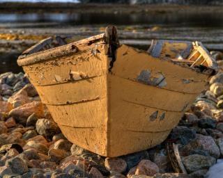 Boot oceaan hout